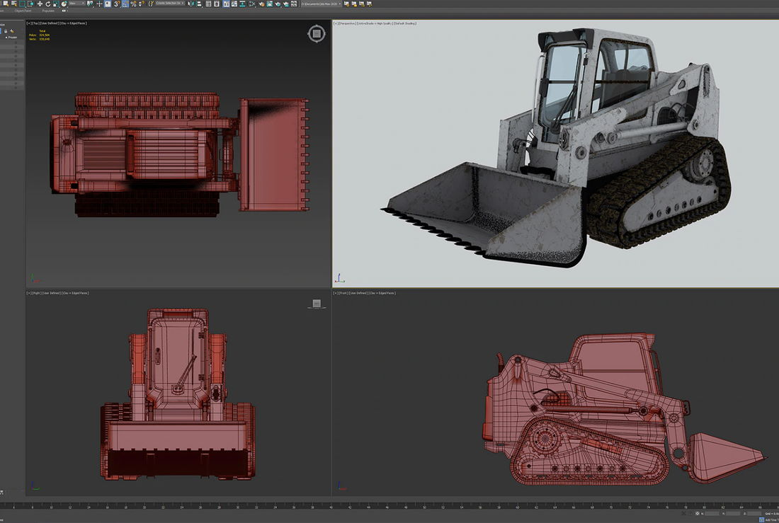 Learn how to design an isometric view of a loader truck in Adobe photoshop online