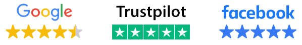 Google, Trustpilot, and Facebook star ratings for Software Academy